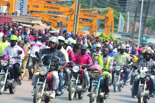 Riders of Motorcycles, also known as Okada