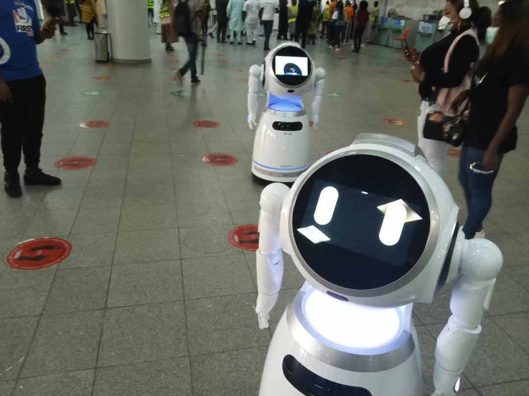 The robots at Murtala Muhammed Airport, Lagos.
