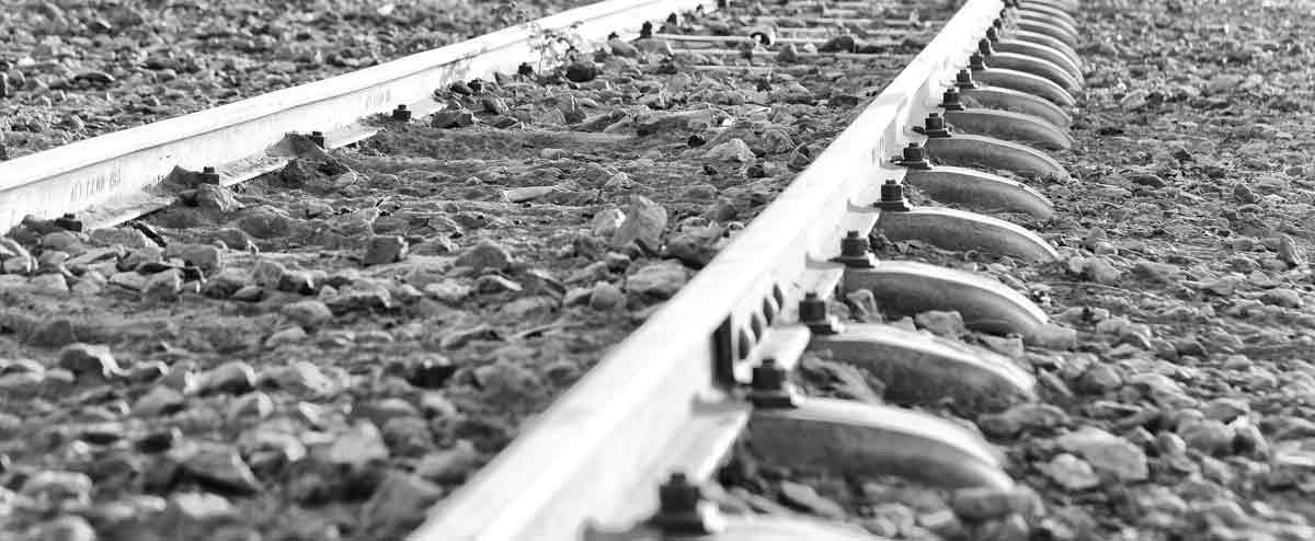 A rail track in Ethiopia.