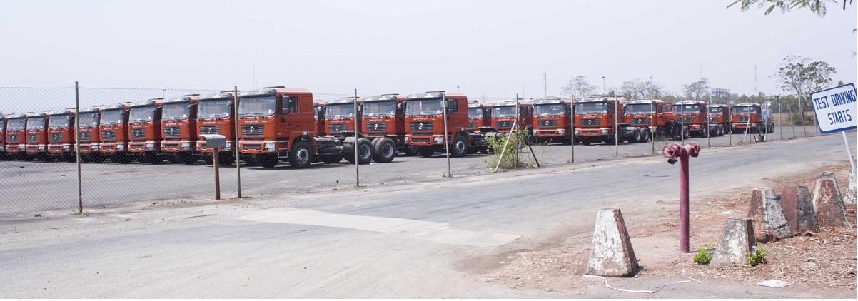 Dangote Cement presents 82 Shacman Trucks to Distributors